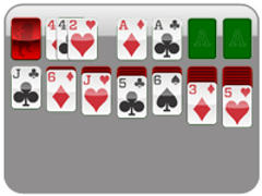 3 Card (1 Pass)<br/>Solitaire